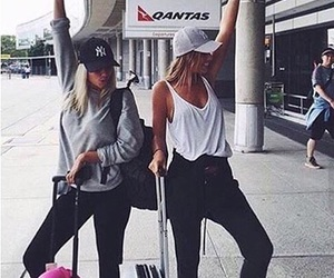 airport, blonde, and goals image