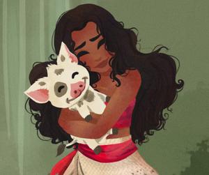 disney, princess, and moana image