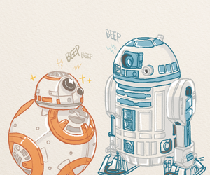 r2d2, bb8, and star wars image