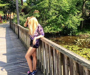 adventure, park, and blonde image