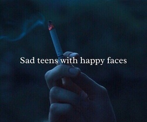 cigarette, sad, and teens image