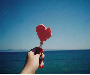 heart, ice cream, and vintage image