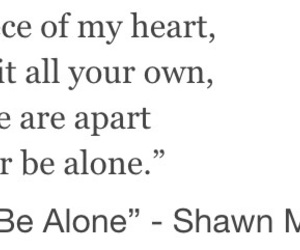 never be alone and shawn mendes image