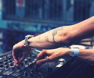 tattoo, music, and dj image
