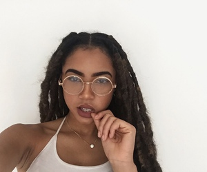 glasses, goals, and makeup image