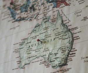 map, australia, and travel image