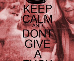 keep calm, kurt cobain, and nirvana image