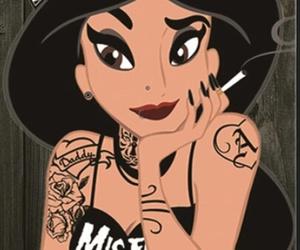 disney, jasmine, and tattoo image
