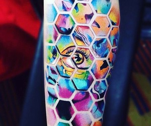 beautiful, colours, and eye image