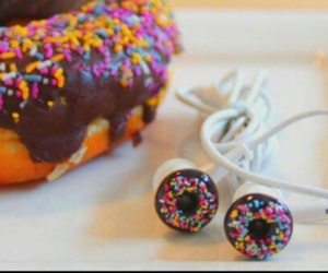 donuts, headphones, and food image
