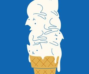 cat, ice cream, and wallpaper image