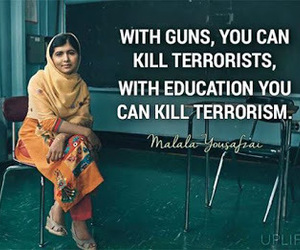 education, quote, and terrorism image