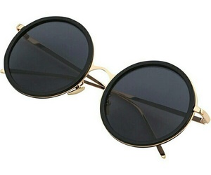 outfit and black gold sunglasses image