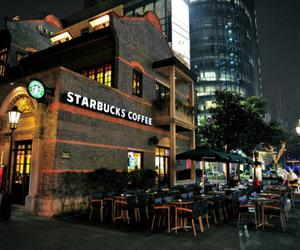 starbucks, coffee, and night image