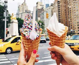 ice cream, food, and new york image