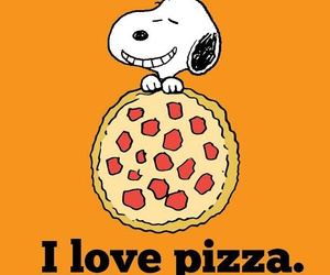 pizza and snoopy image