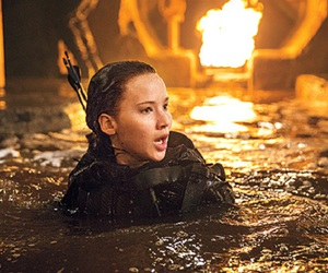the hunger games, katniss everdeen, and Jennifer Lawrence image