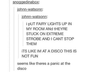 panic! at the disco, tumblr, and funny image