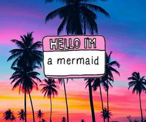 mermaid and tropical image