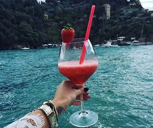 strawberry, summer, and cocktail image