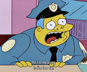 fat, simpsons, and quote image
