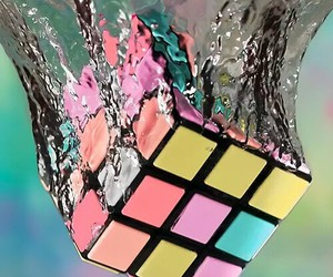 water, colors, and pastel image