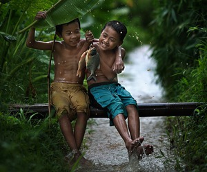 child, boy, and friendship image