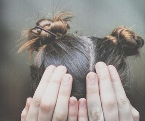 aesthetic, buns, and girl image