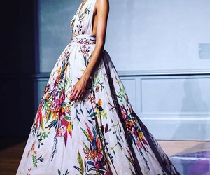 fashion, floral, and long image