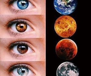 planet, eyes, and eye image