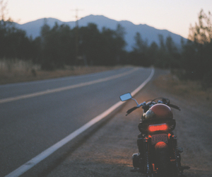 motorbike, motorcycle, and road image
