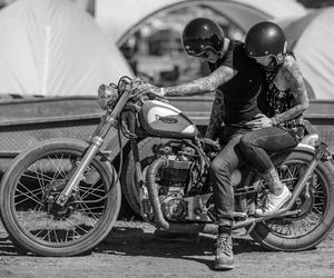 couple, motorbike, and motorcycle image