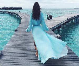 blue, summer, and dress image