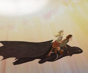 небо, дракон, and how to train your dragon image