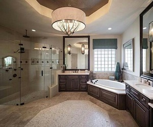 bathroom, home, and rich image
