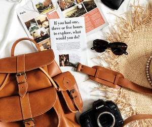 bag, summer, and travel image