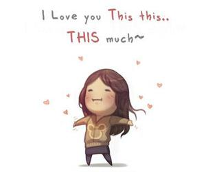 girl, I Love You, and cute image