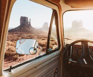 travel, car, and desert image