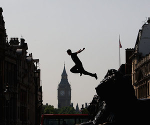 jump, photography, and freerunning image