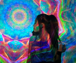 colorful, kaleidoscope, and psychedelic image