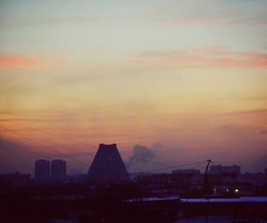 city, moscow, and morning image