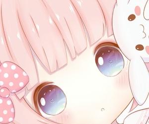 anime, baby girl, and bunny image