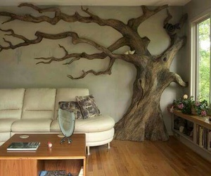 tree, room, and house image