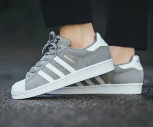 adidas, superstar, and grey image