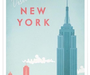 illustration, new york, and visit image