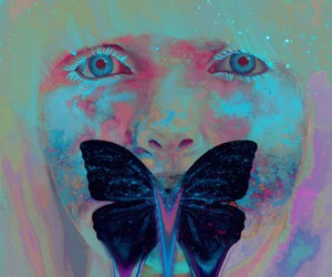 butterfly, art, and eyes image