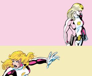 dc comics, legion of super-heroes, and saturn girl image