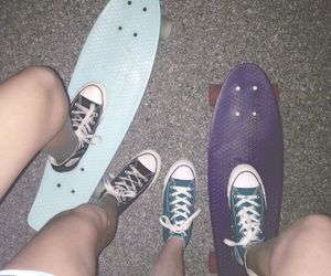 skate board, summer, and summer nights image