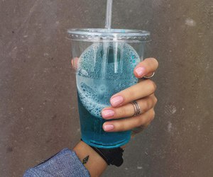 drink, blue, and food image