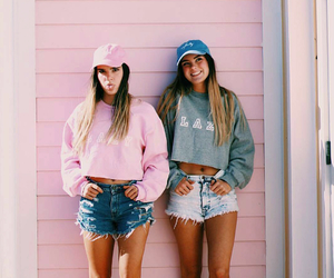 girl, friends, and pink image